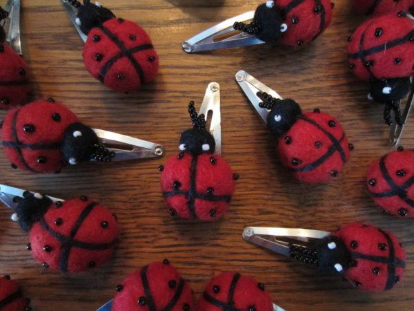 Ladybug Hair barrettes