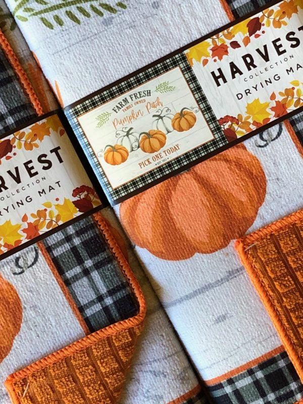 farm fresh pumpkins kitchen drying mat