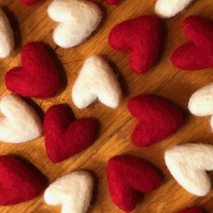 felted wool heart